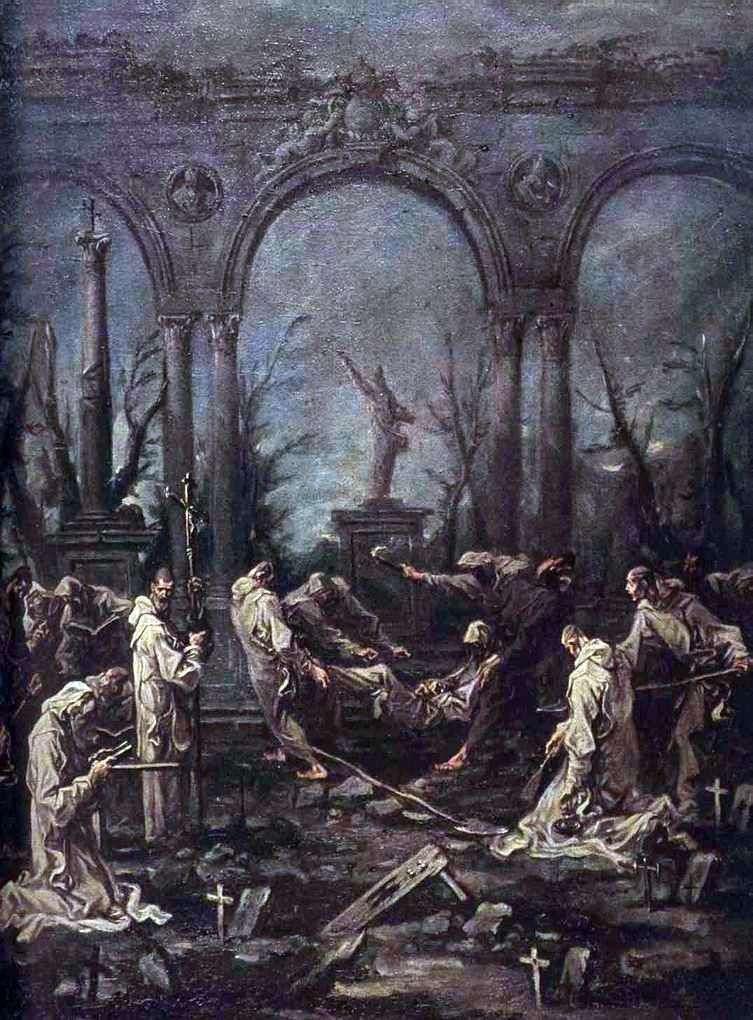 Pogrzeb Monka   Alessandro Magnasco