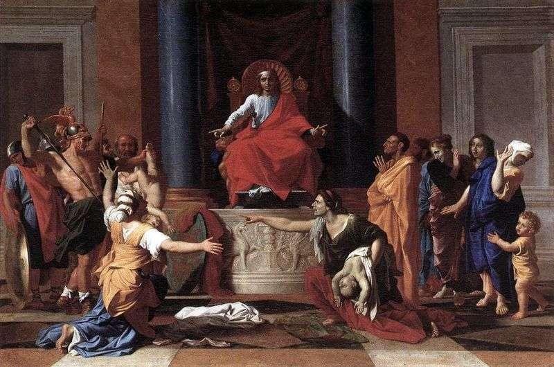 Trybunał Salomona   Nicolas Poussin
