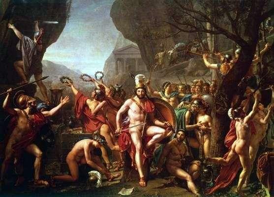 Leonid at Thermopylae   Jacques Louis David