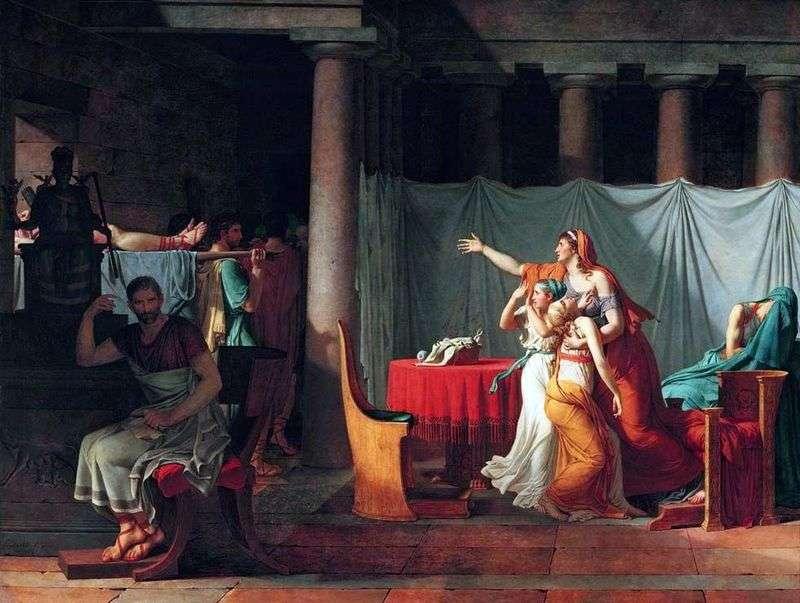 Liktora sprowadza Brutusa ciała swoich straconych synów   Jacquesa Louisa Davida