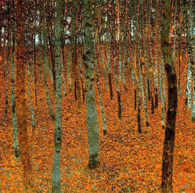 Brzozowy Las   Gustav Klimt