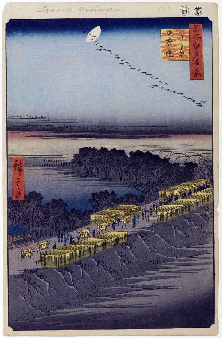 Nabrzeże Nihondzumumi, Esivara Quarter   Utagawa Hiroshige