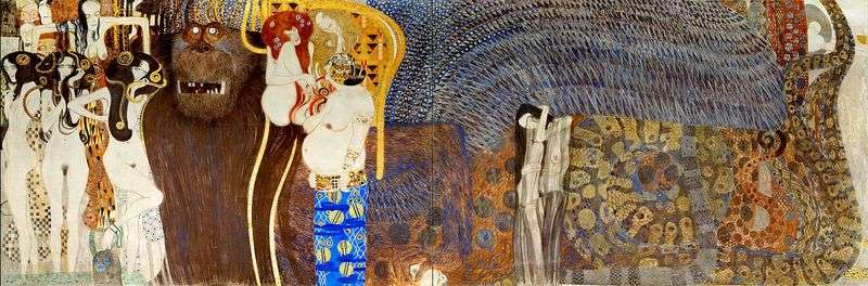 Beethoven Frieze   Gustav Klimt