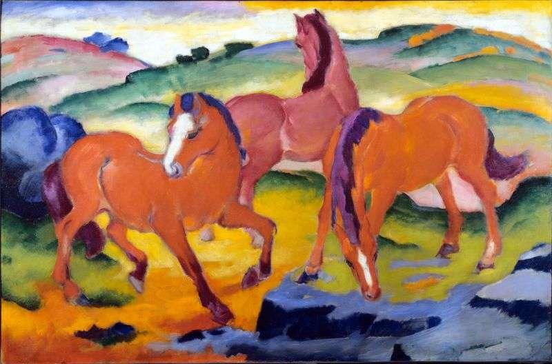 Czerwone konie   Franz Marc