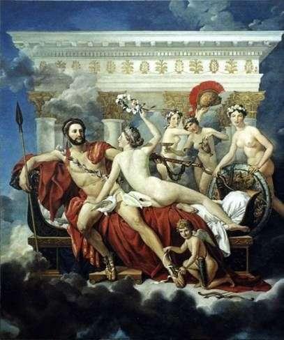 Mars rozbrojonych przez Wenus i trzy łaski   Jacques Louis David