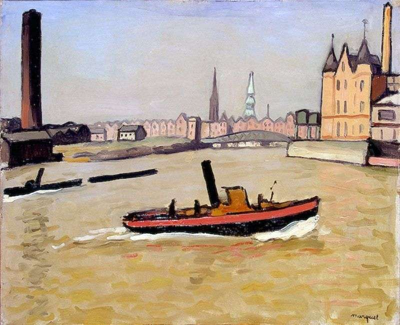 Port w Hamburgu   Albert Marquet