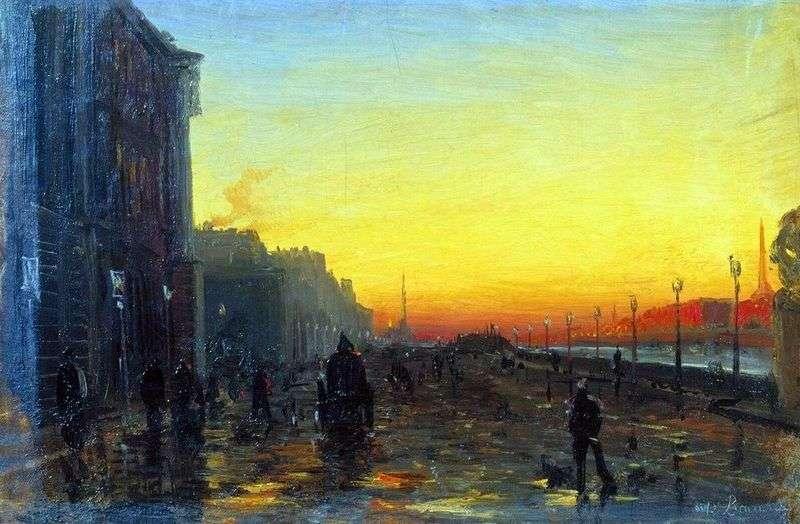 Świt w Petersburgu   Fiodor Wasiljew