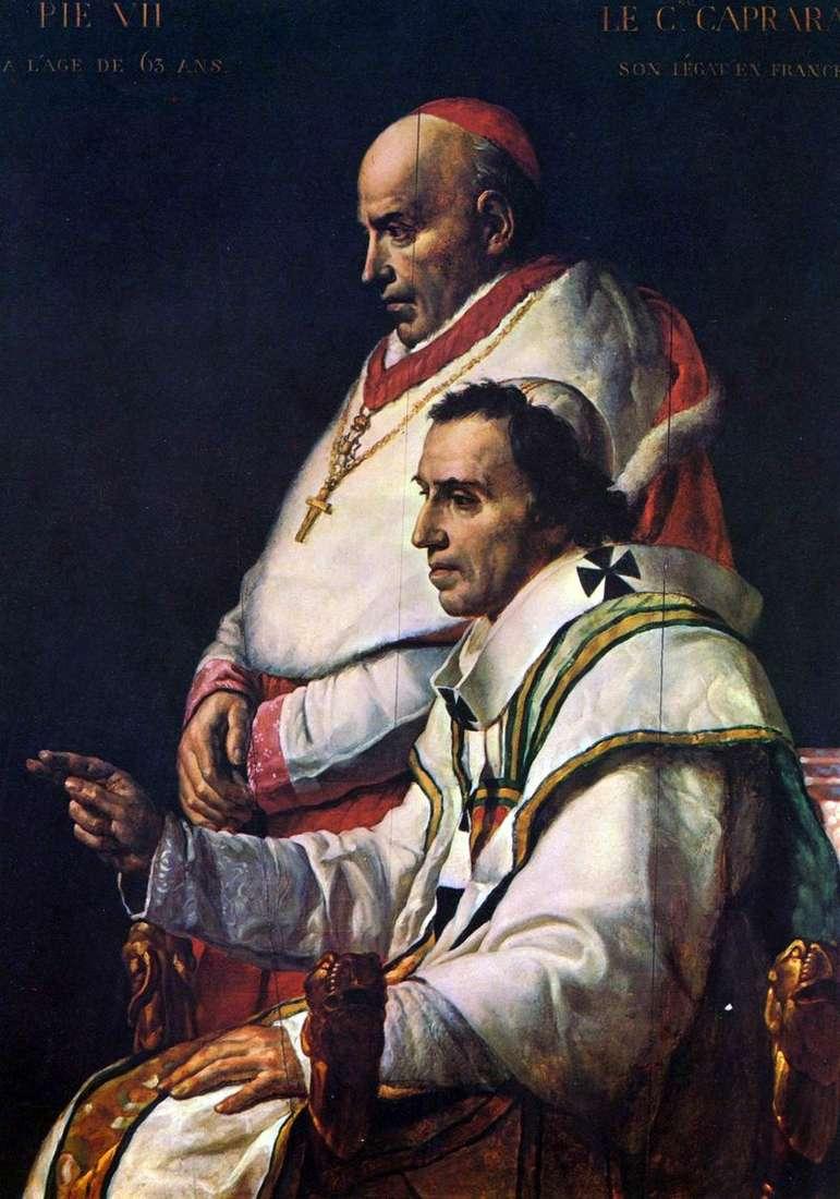 Papież Pius II i kardynał Caprara   Jacques Louis David