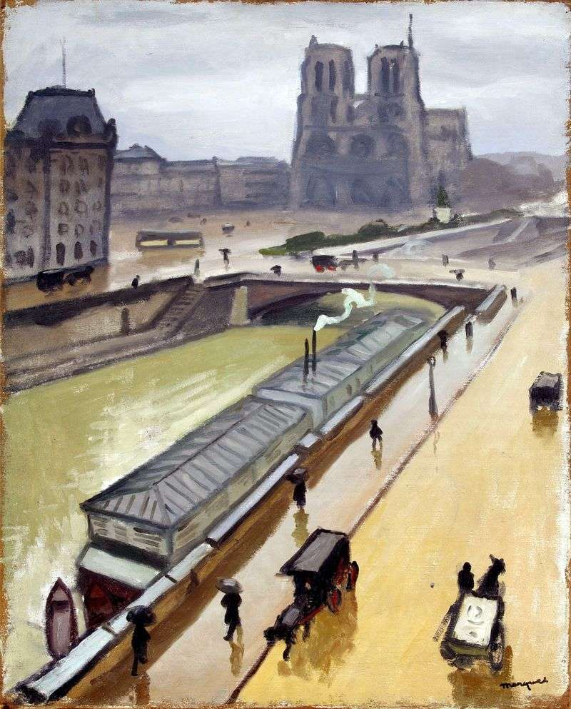 Deszczowy dzień w Paryżu. Notre Dame   Albert Marquet