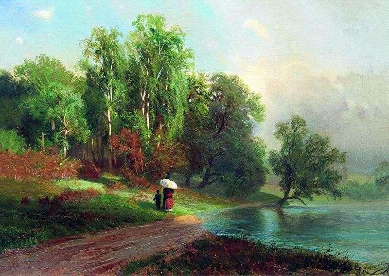 Lato Rzeka w Czerwonym Selo   Fiodor Wasiljew