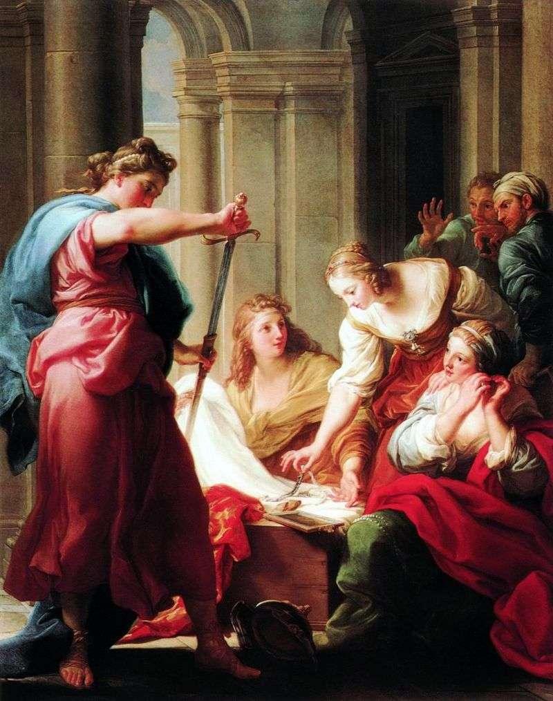 Achilles z córek Cara Likoma   Pompeo Batoni