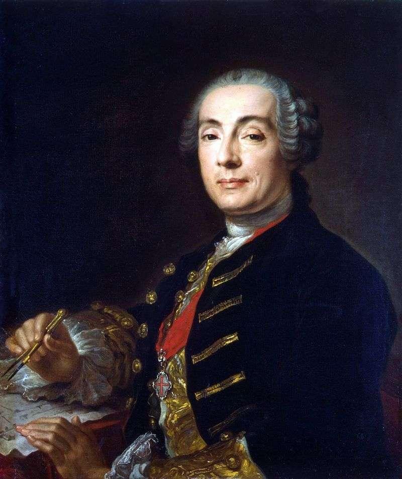 Portret architekta Bartolomeo Francesco Rastrelli   Pfanzelt