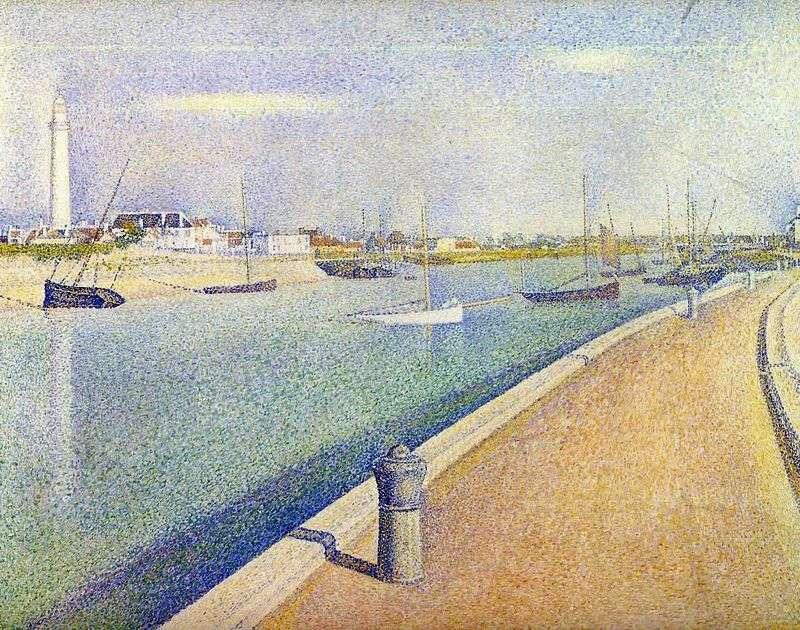 Kanał w Gravelina. Mały port Philippe   Georges Cera
