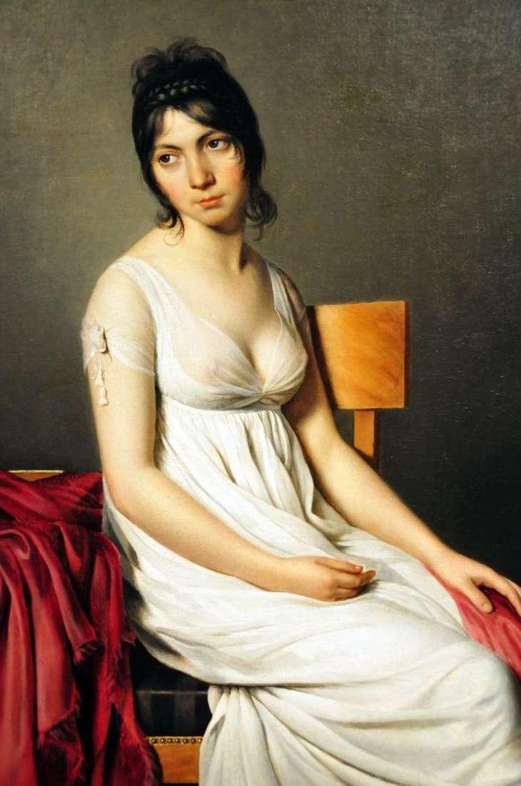 Portret Giovanna Donna w bieli   Jacques Louis David