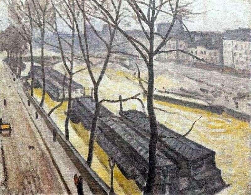 Paryż w zimie. Nabrzeże Bourbon   Albert Marquet