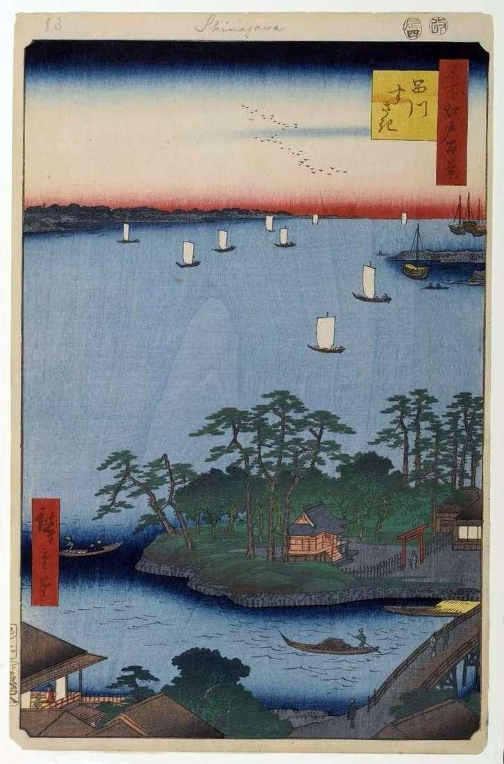 Sandbar w Susaki   Utagawa Hiroshige