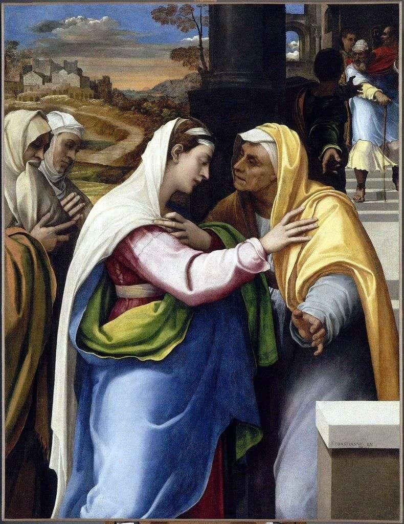 Spotkanie Marii i Elżbiety   Sebastiano del Piombo