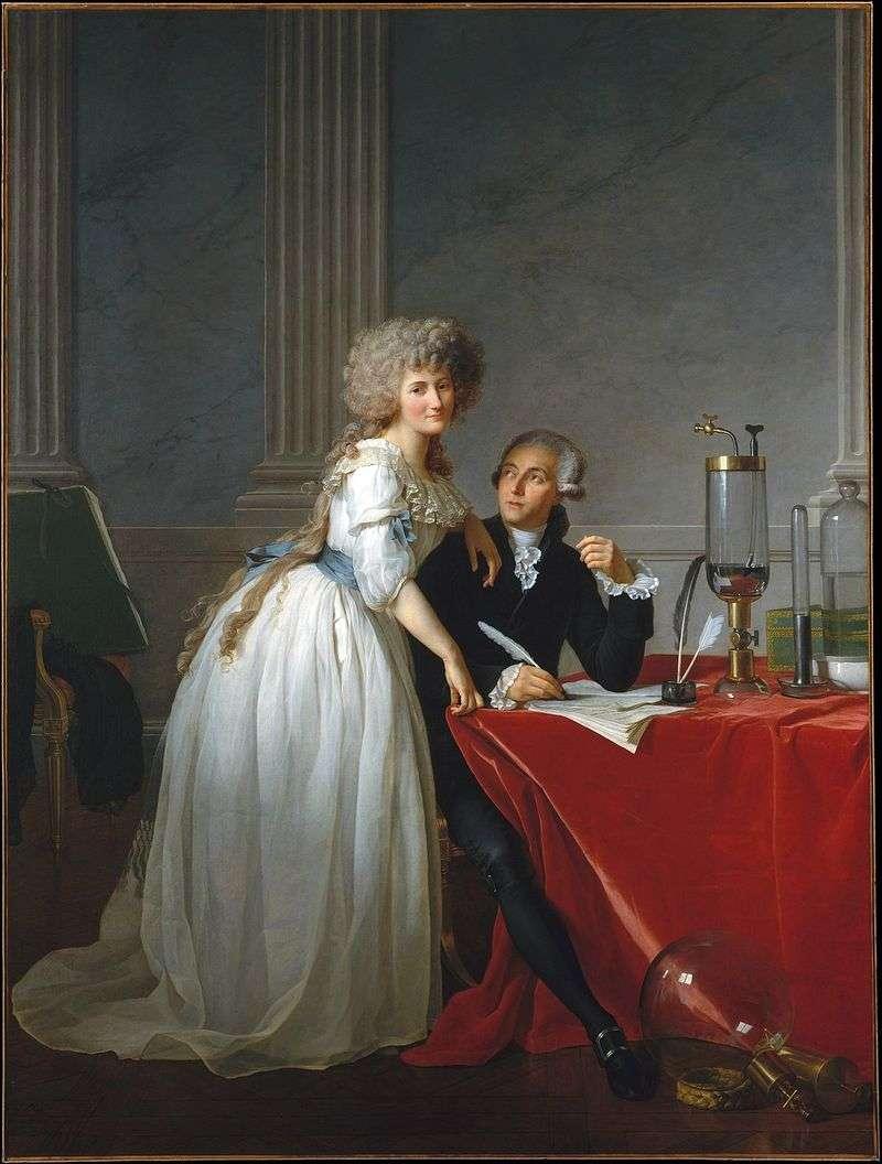 Portret Lavoisiera i jego żony Marie Anne   Jacques Louis David