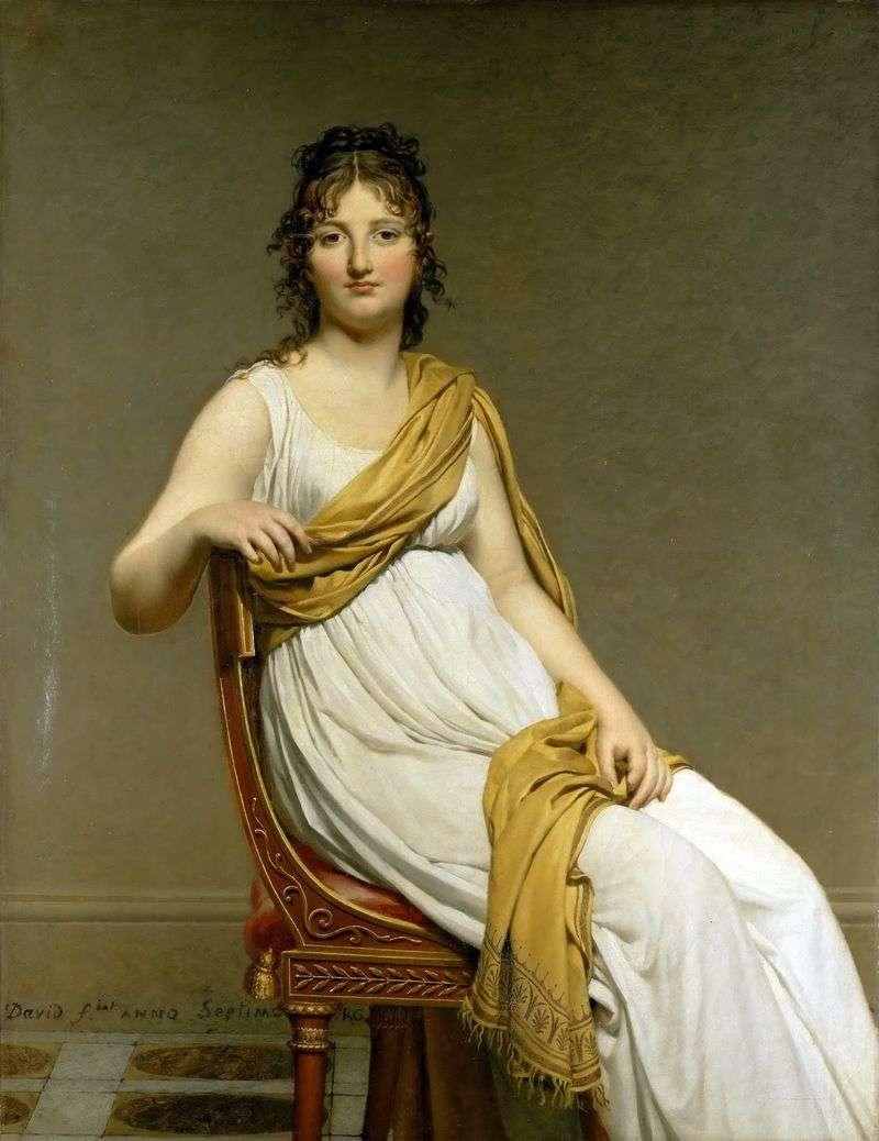 Portret Madame Henriette de Vernignac   Jacques Louis David