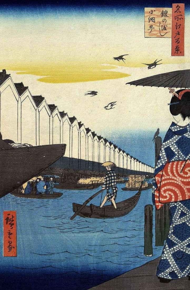 Prom Eroi no vatasi do dzielnicy Coamite   Utagawa Hiroshige
