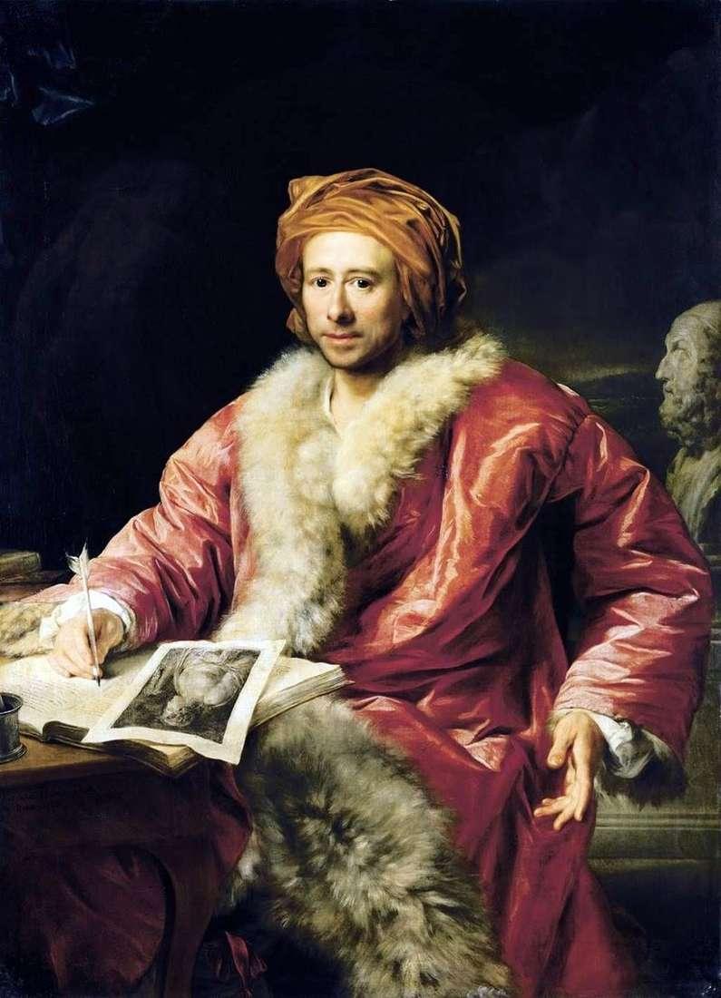 Portret Winckelmanna Johanna Joachima   Anton von Maron