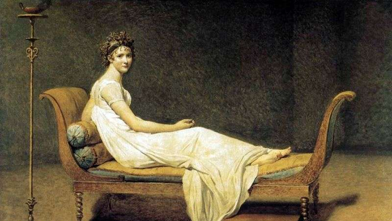 Portret Madame Recamier   Jacques Louis David