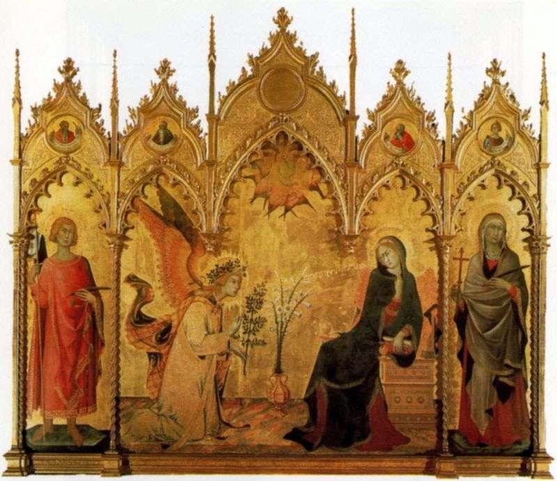 Zwiastowanie   Simone Martini