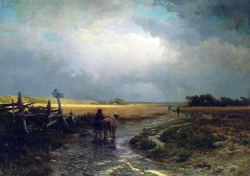 Po deszczu. Droga krajowa   Fedor Vasilyev