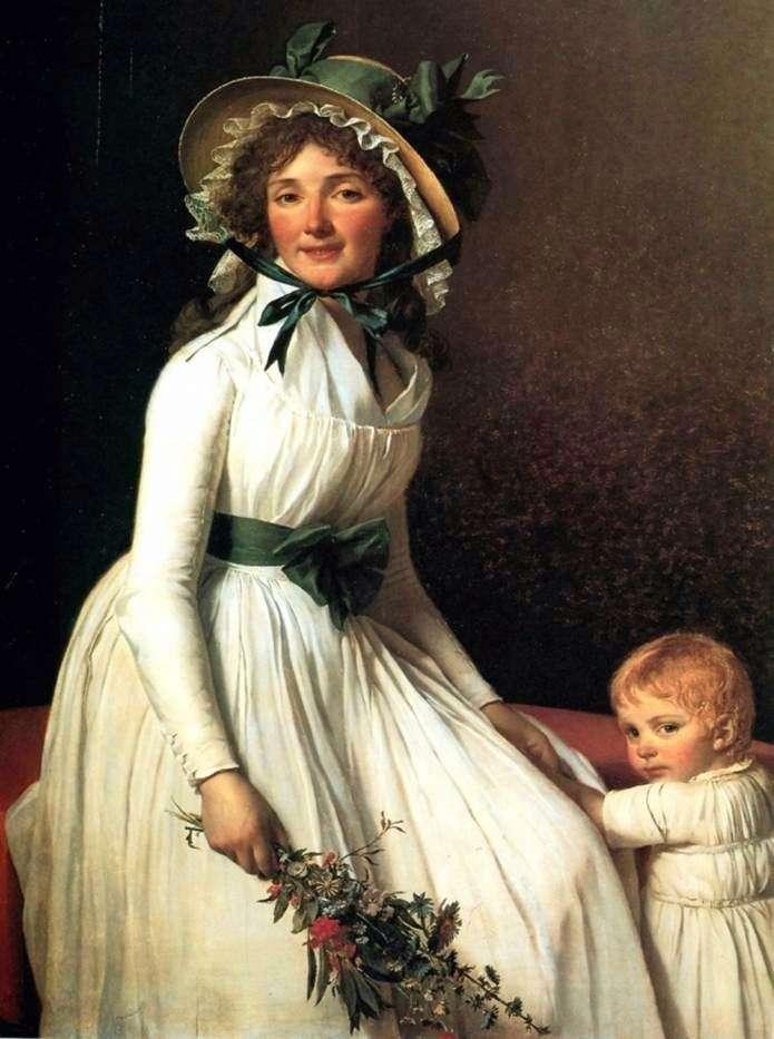 Portret Madame Emilia Serisia   Jacques Louis David