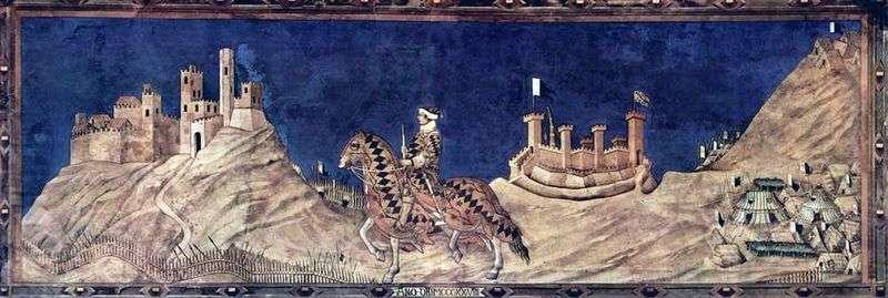 Condotier Gvidoriccio da Fogliano   Simone Martini