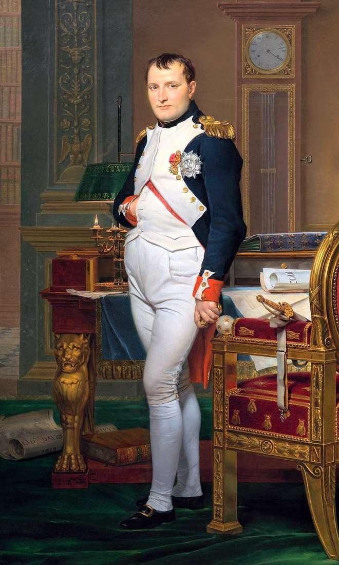 Portret Napoleona w biurze cesarskim   Jacques Louis David