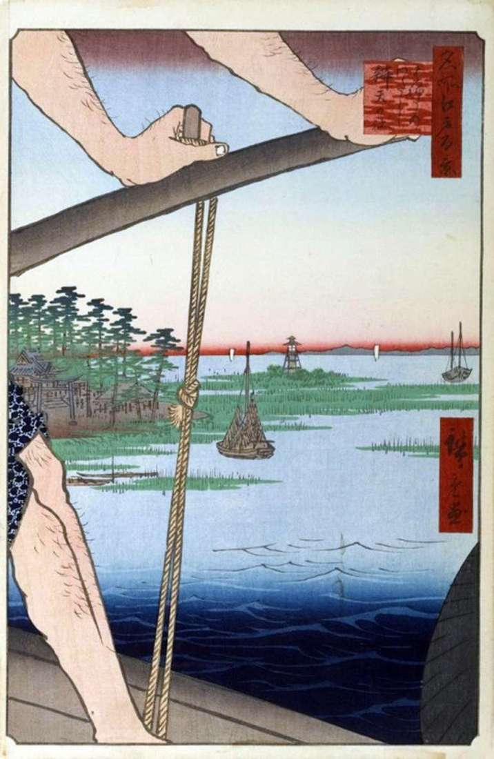 Haneda Crossing, Banten Sanctuary   Utagawa Hiroshige