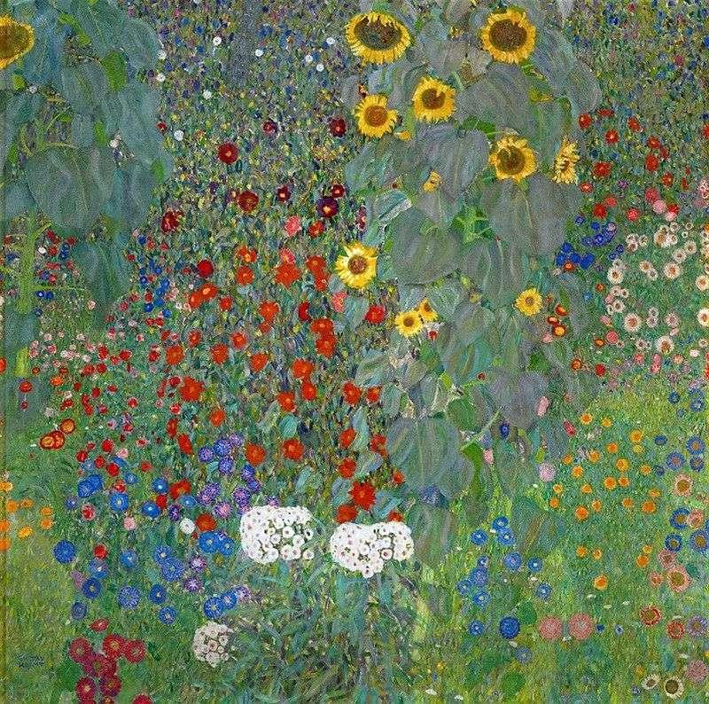 Słoneczniki w wiejskim ogrodzie   Gustav Klimt