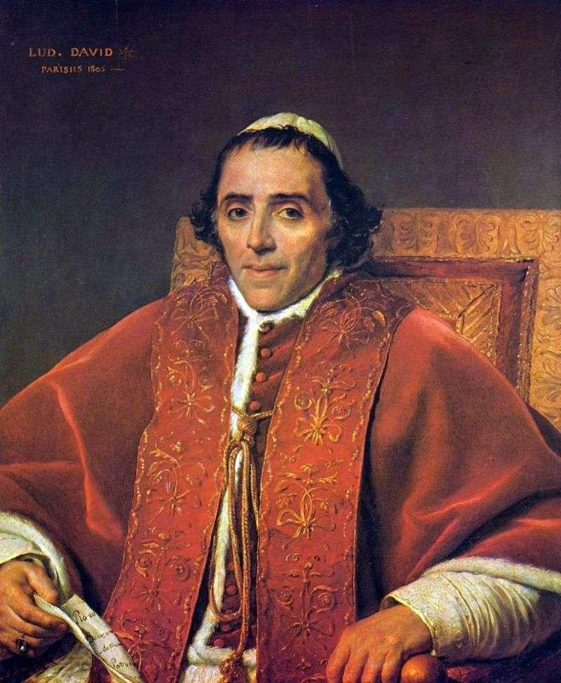 Portret papieża Piusa VII   Jacques Louis David