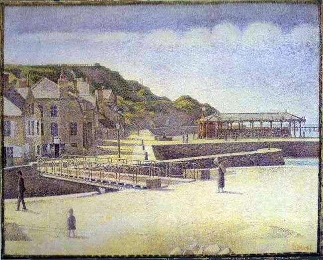 Port en Bessin, niedziela   Georges Ceurat