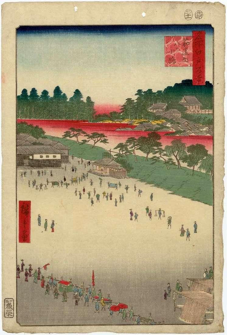 Plac Osiem ulic od bramy Sudzikai   Utagawa Hiroshige