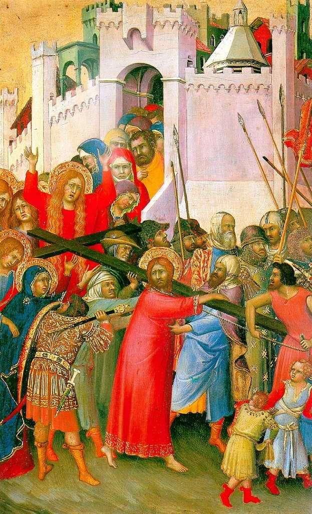 Przenoszenie krzyża   Simone Martini