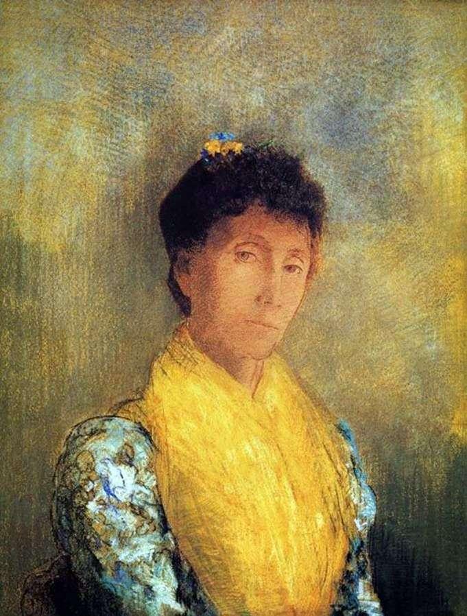 Kobieta w kolorze żółtym   Odonon Redon