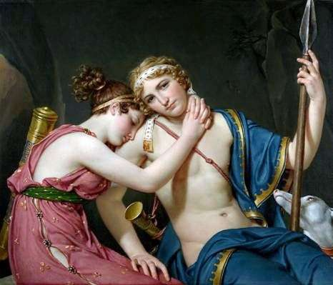 Podróż Telemacha   Jacques Louis David