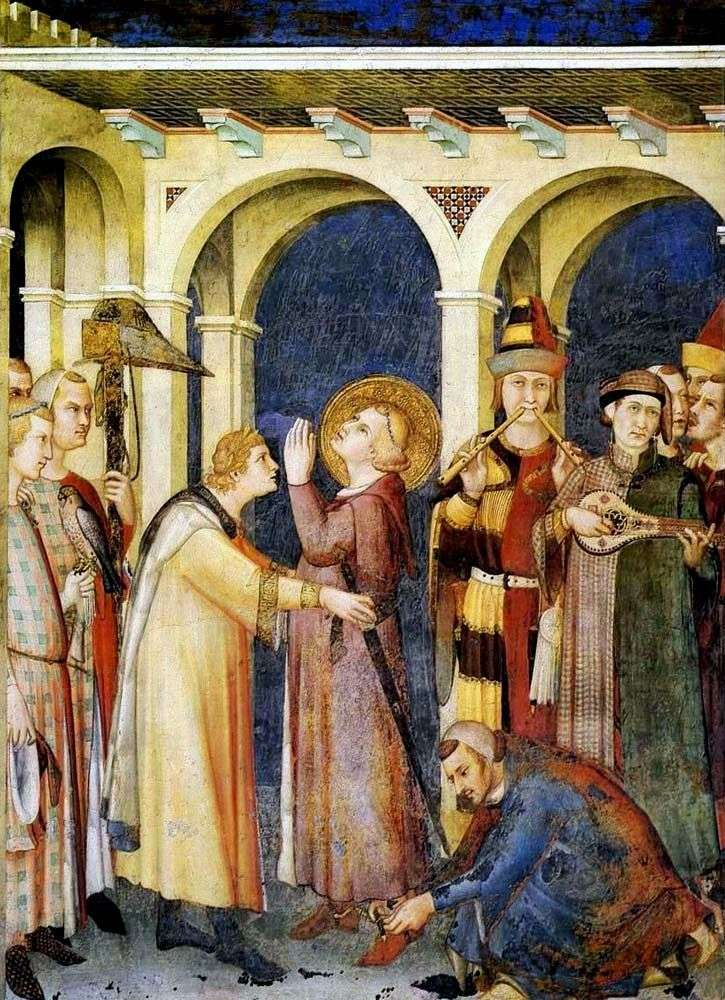 Inicjacja rycerzy św. Marcina   Simone Martini