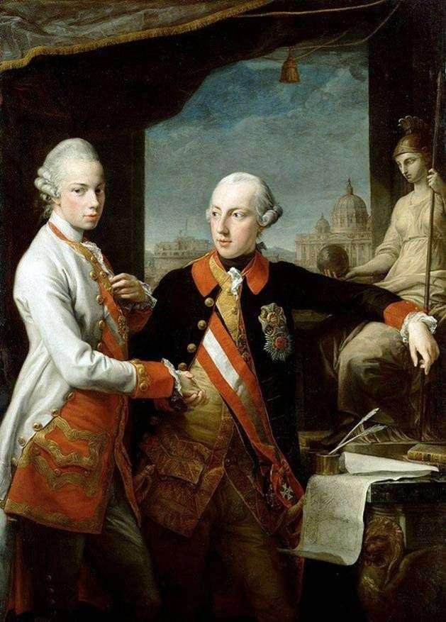 Portret cesarza Józefa II i Leopolda z Toskanii   Pompeo Batoniego