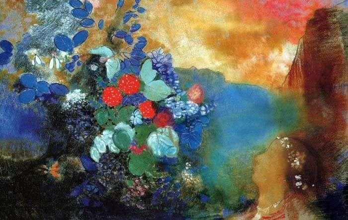 Ofelia wśród kwiatów   Odilon Redon