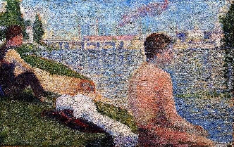 Siedzący kąpiący się   Georges Cera