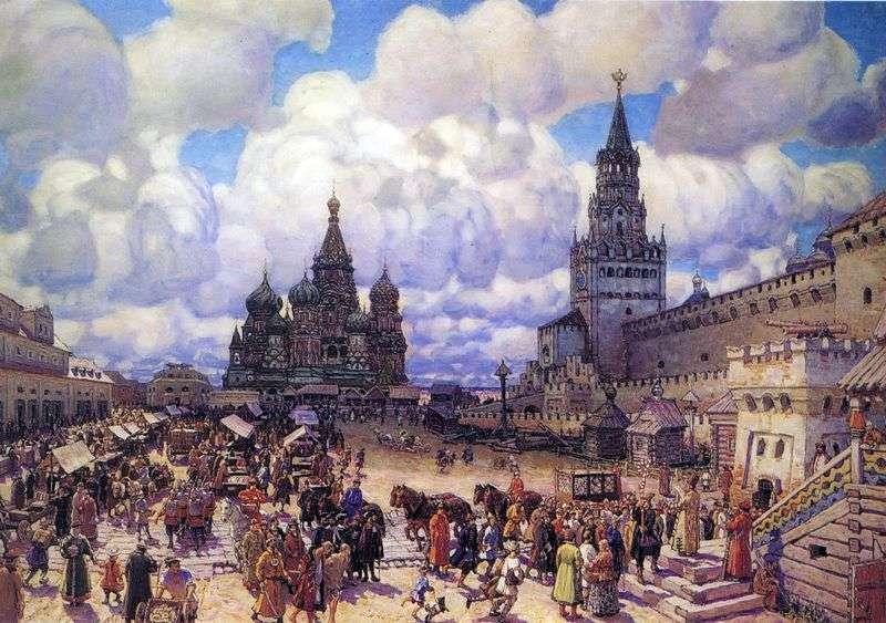 Plac Czerwony w drugiej połowie XVII wieku   Apolinary Wasnikow