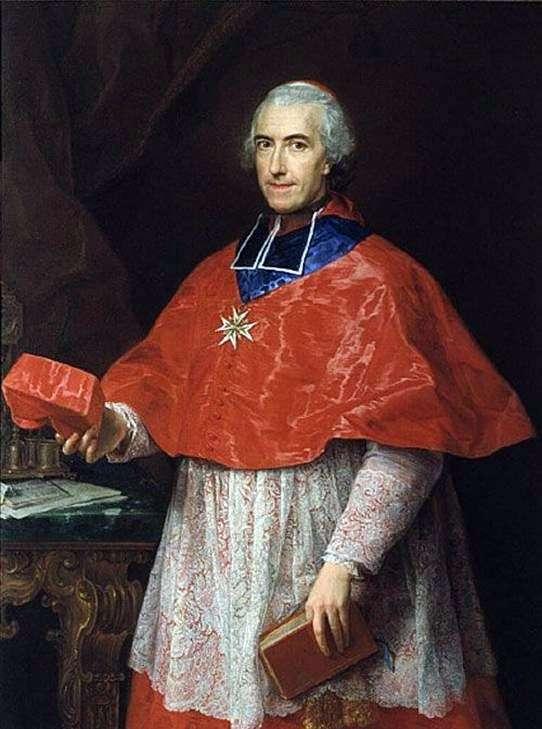 Portret kardynała Jean Francois de Rozheshuar   Pompeo Batoni