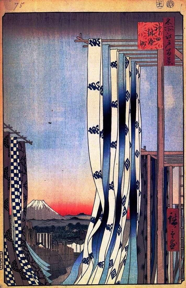 Dystrykt Kanda, Dzielnica Dyer   Utagawa Hiroshige