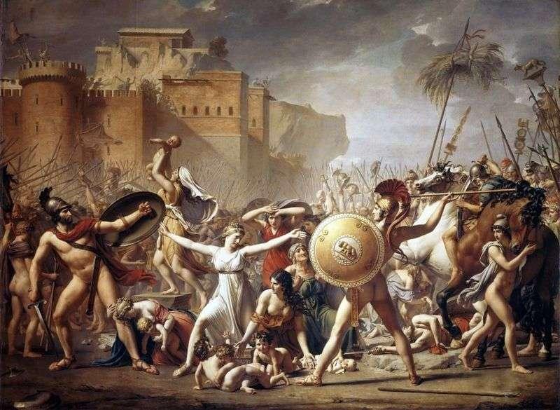 Sabinjanki, zatrzymując bitwę   Jacques Louis David