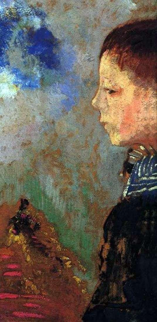 Portret Ari z niebieskim kołnierzykiem   Odilon Redon