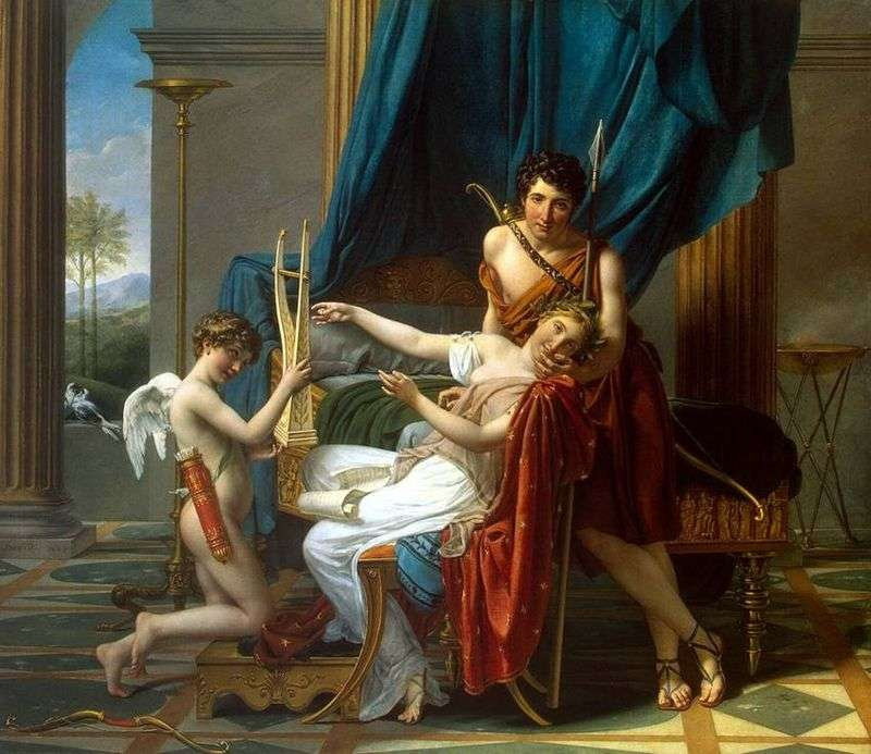Sappho i Phaon   Jacques Louis David