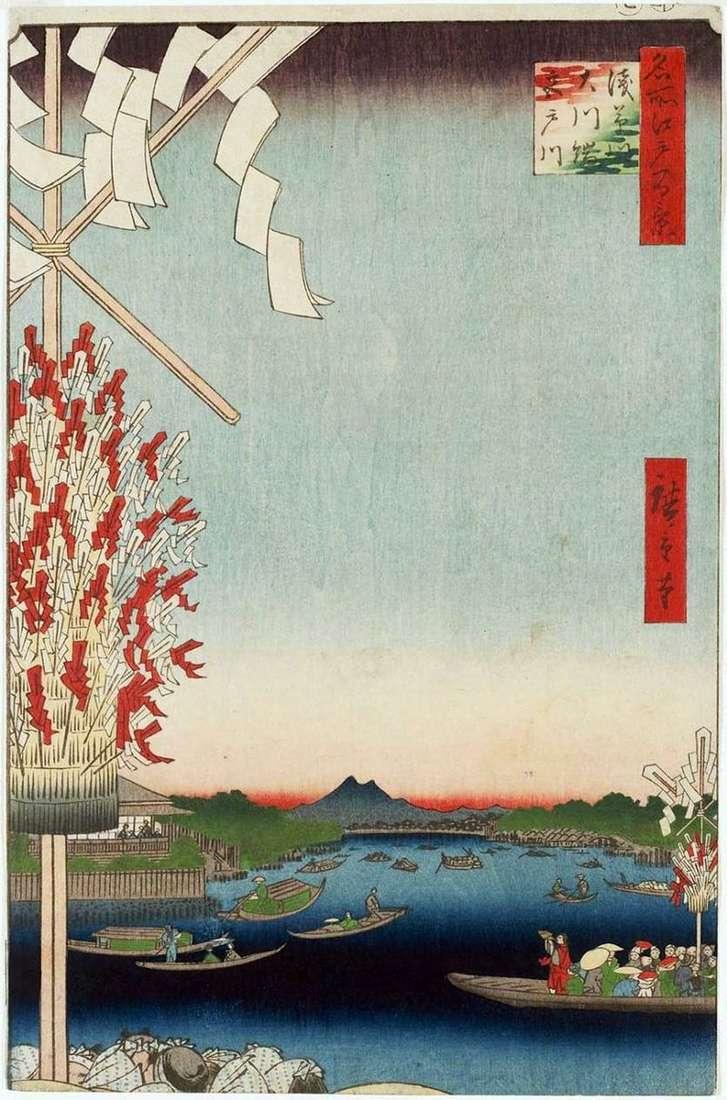 Rzeka Asakusagawa, rzeka Miyatogawa, nasyp Okavabata